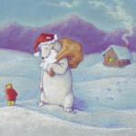 Polar Santa, Pastel on paper, 2006