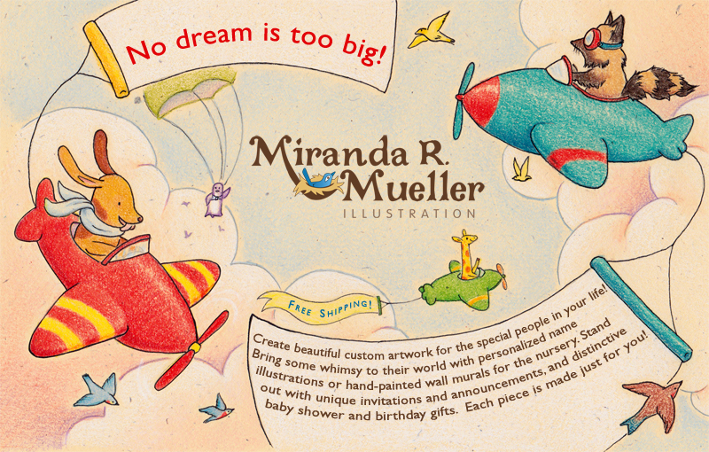 Original Name Illustrations, Custom Invitations or Announcements, Murals and Pet Portraits: No Dream is Too Big!