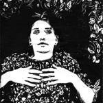 Mandy, Linoleum Block Print, 2006