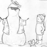 sketch_snowman