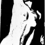 Solitary Erotica 2, Linoleum block print 2006