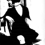 Spankdance, linoleum block print 2007